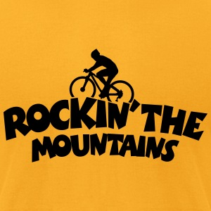 Mountainbike T-Shirt (Men Yellow) - Men's T-Shirt by American Apparel