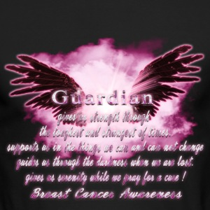 Guardian Angel serenity prayer Breast Cancer Aware Long Sleeve Shirts - Men's Long Sleeve T-Shirt by Next Level