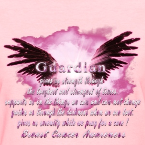 Guardian Angel serenity prayer Breast Cancer Aware Women's T-Shirts - Women's T-Shirt