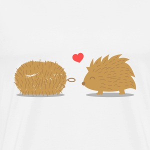 cute hedgehog finds its true love in a scrub brush T-Shirts - Men's Premium T-Shirt