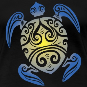 Sea Turtle - Tribal Women's T-Shirts - Women's Premium T-Shirt