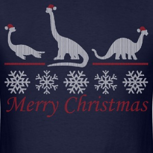 Dinosaur Christmas T-Shirts - Men's T-Shirt