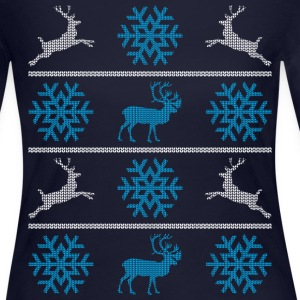 Deers and snowflakes Long Sleeve Shirts - Women's Long Sleeve Jersey T-Shirt