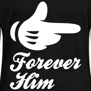 forever him Long Sleeve Shirts - Women's Wideneck Sweatshirt