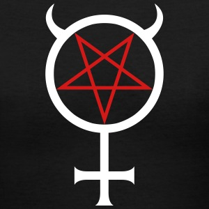 Mercury Pentagram T-Shirts - Women's V-Neck T-Shirt