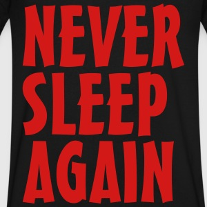 never sleep again T-Shirts - Men's V-Neck T-Shirt by Canvas