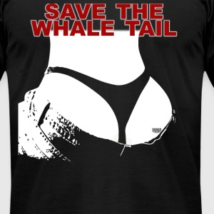 Save The Whale Tail  Men's T-Shirt by American App - Men's T-Shirt by American Apparel