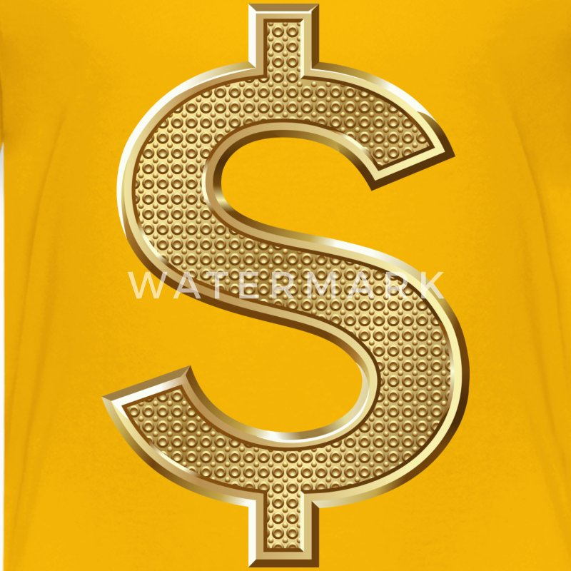 Golden Dollar Sign Kids' Shirts - Kids' Premium T-Shirt