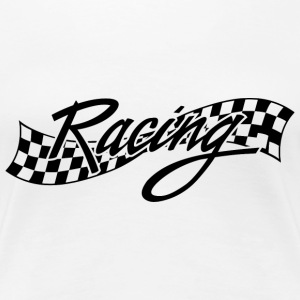 Racing - Racer - Checkered Flag Women's T-Shirts - Women's Premium T-Shirt