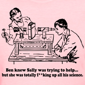 Sally Can't Science Women's T-Shirts - Women's T-Shirt