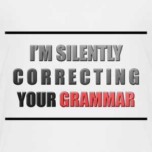 I'm silently correcting your grammar Kids' Shirts - Kids' Premium T-Shirt