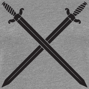 Crossed Swords Women's T-Shirts - Women's Premium T-Shirt