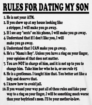Rules For Dating My Son From Dad