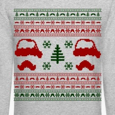 funny mustache ugly christmas sweater
