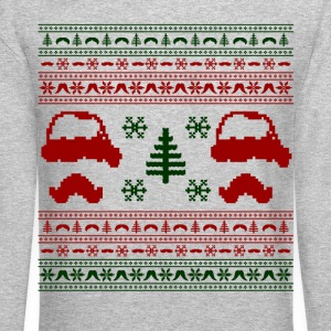 funny mustache ugly christmas sweater - Crewneck Sweatshirt