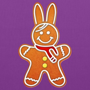 gingerbread rabbit bunny cony hare cookie biscuit Bags & backpacks - Tote Bag