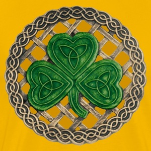 Gold Celtic Shamrock Shirt - Men's Premium T-Shirt