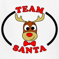 team santa reindeer male Kids' Shirts