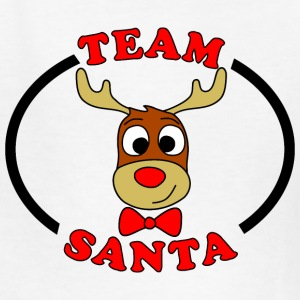 team santa reindeer male Kids' Shirts - Kids' T-Shirt