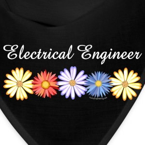 White Electrical Engineer Asters Caps - Bandana