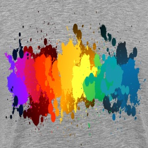 Rainbow Paint Splatter T-Shirts - Men's Premium T-Shirt