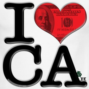 I Love CA - CAsh (for light-colored apparel) T-Shirts - Men's Ringer T-Shirt