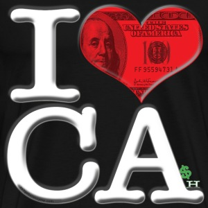 I Love CA - CAsh (for dark-colored apparel) T-Shirts - Men's Premium T-Shirt