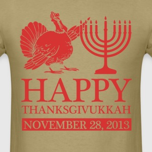 happy thanksgivukkah - Men's T-Shirt