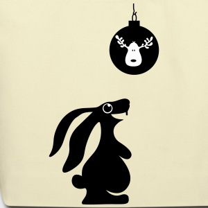 rabbit bunny hare christmas ball reindeer moose Bags & backpacks - Eco-Friendly Cotton Tote