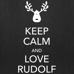 keep calm love rudolf moose reindeer christmas Bags & backpacks - Tote Bag