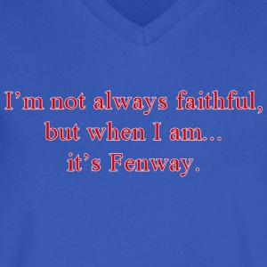 Fenway Faithful T-Shirts - Men's V-Neck T-Shirt by Canvas