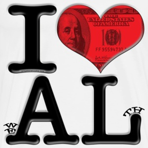 I Love AL - weALth (for light-colored apparel) T-Shirts - Men's Premium T-Shirt
