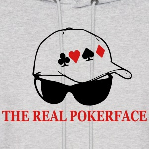 Pokerface design shirt - Men's Hoodie