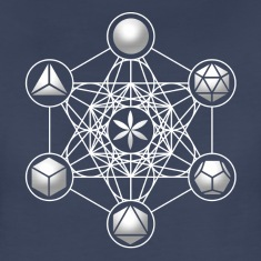 Metatrons Cube, Platonic Solids, Sacred Geometry Women's T-Shirts
