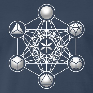 Metatrons Cube, Platonic Solids, Sacred Geometry T-Shirts - Men's Premium T-Shirt