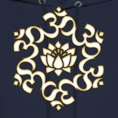 Om Lotus, Buddhism, Yoga, Meditation, spiritual Hoodies