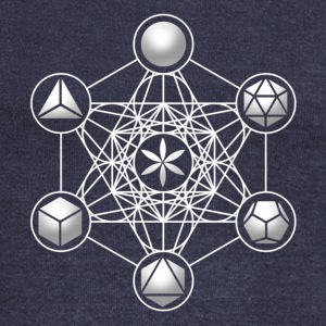Metatrons Cube, Platonic Solids, Sacred Geometry Long Sleeve Shirts - Women's Wideneck Sweatshirt