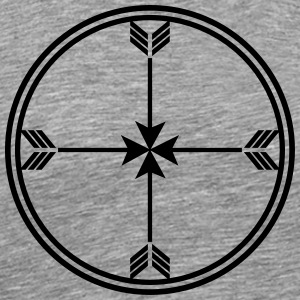 Sioux medicine wheel, arrows Spirit, enlightenment T-Shirts - Men's Premium T-Shirt