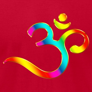 Om, Symbol, Rainbow, Buddhism, Mantra, Meditation, T-Shirts - Men's T-Shirt by American Apparel