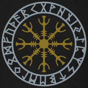 Helm of awe, Aegishjalmur, protection symbol, rune T-Shirts - Men's T-Shirt