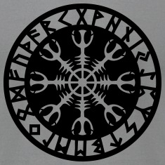 Rune magic Aegishjalmur, Helm of Awe, protection T-Shirts