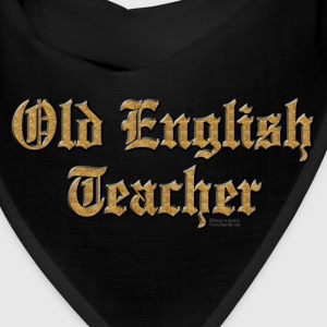 Old English Teacher Caps - Bandana