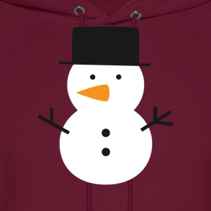cute snowman with black top hat Hoodies - Men's Hoodie