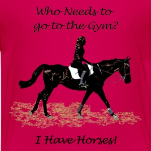Who Needs to go to the Gym? Horse Kids' Shirts - Kids' Premium T-Shirt