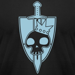 Vektor-Skulls: Kings Blade and Shield T-Shirts - Men's T-Shirt by American Apparel