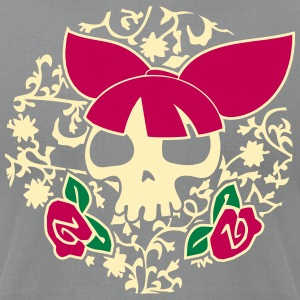 Vector Skulls: the rockabilly style T-Shirts - Men's T-Shirt by American Apparel
