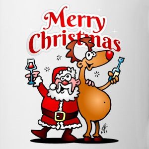 Merry Christmas - Santa Claus and his Reindeer Bottles & Mugs - Coffee/Tea Mug