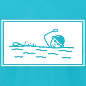 Swimming - crawl - rectangle T-Shirts - Men's T-Shirt by American Apparel