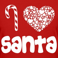 i_heart_santa_wht Women's T-Shirts