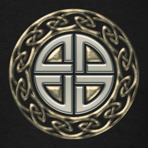 Celtic shield knot, Protection Amulet, Germanic,  T-Shirts - Men's T-Shirt